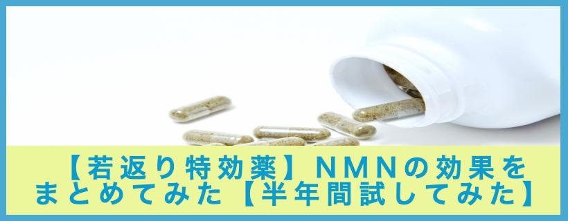 【若返り特効薬】NMNの効果をまとめてみた【半年間試してみた】